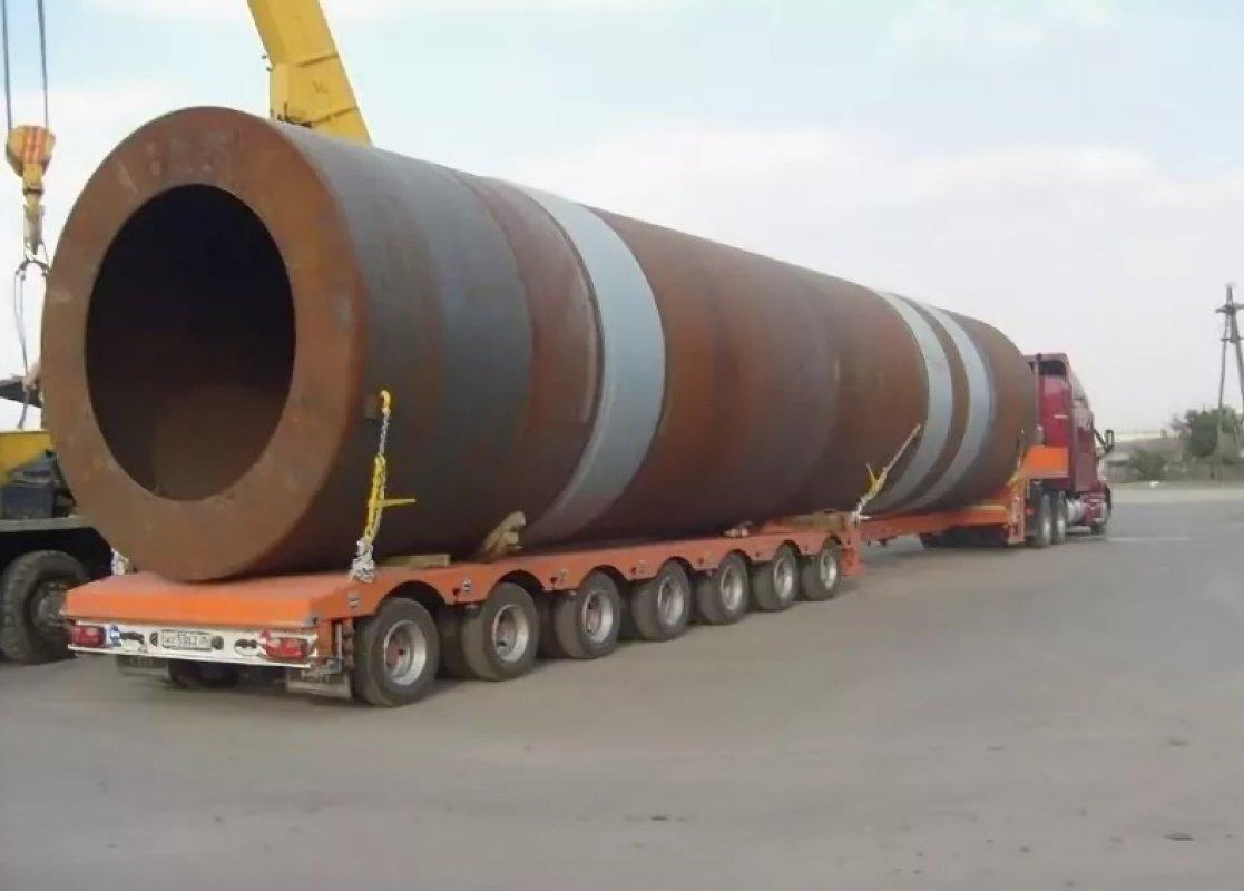 Перевозка труб больших диаметров тралами и площадками - Смоленск, цены, предложения специалистов